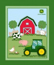 Nutex John Deere Nursery Fabric Panel 100% Cotton